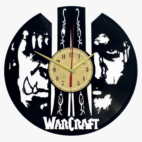 Варкрафт Часы из Пластинки — Люди и Орки