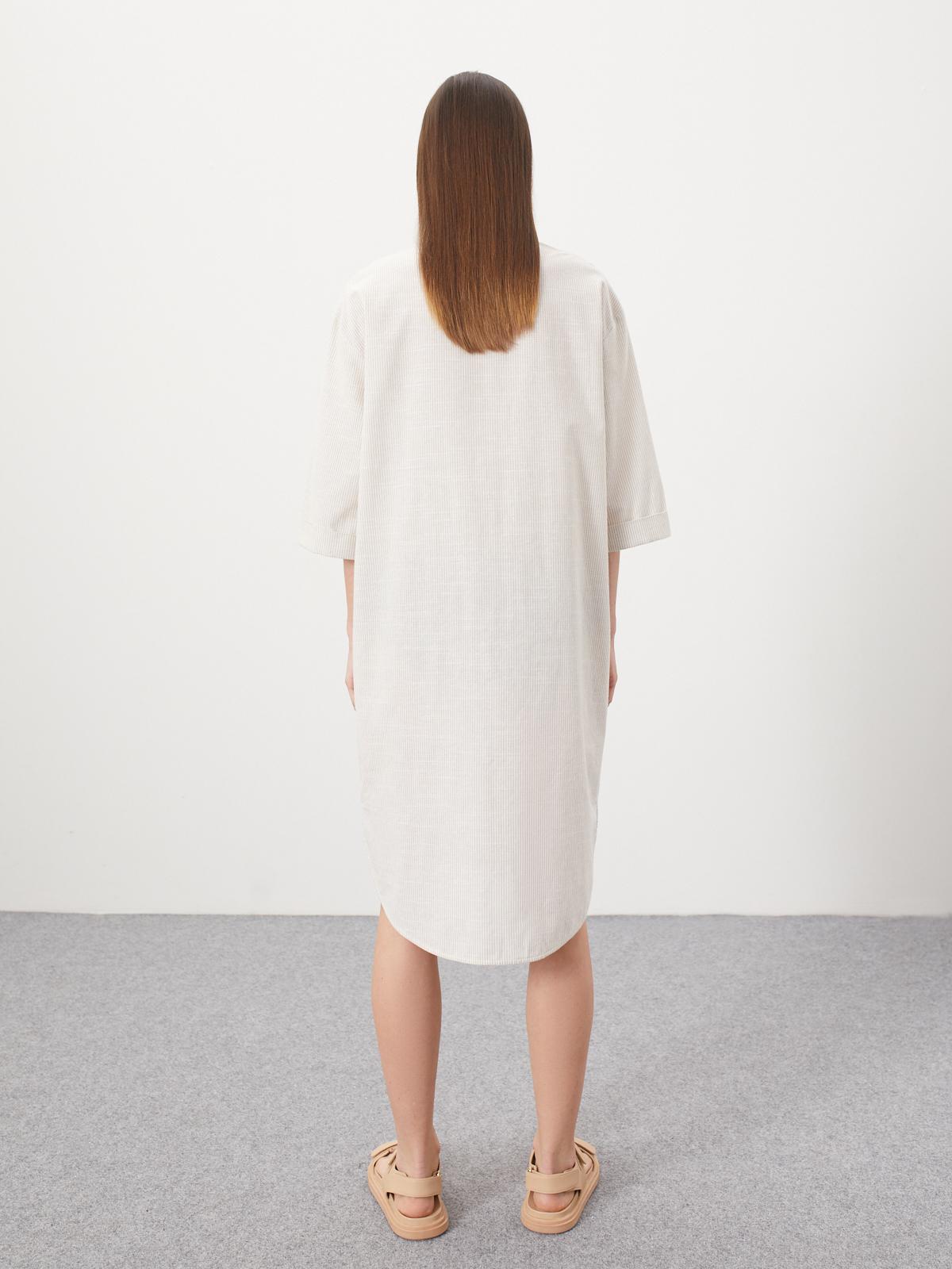 Платье-рубашка Bram с большим карманом, Светло-бежевый