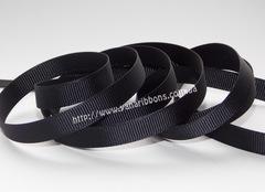 Лента репсовая черная ширина 6, 9, 22 и 38 мм