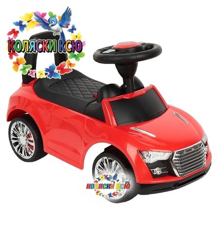 Машинка-каталка Audi красный
