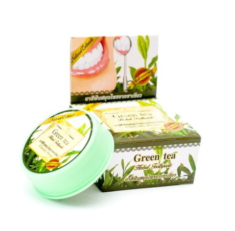 GREEN TEA Herbal Toothpaste, Rochjana (Зубная паста с экстрактом Зеленого чая), 30 гр.