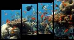 """Модульная картина """"Рыбный переполох"""""""