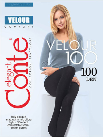 Колготки Velour 100 Conte