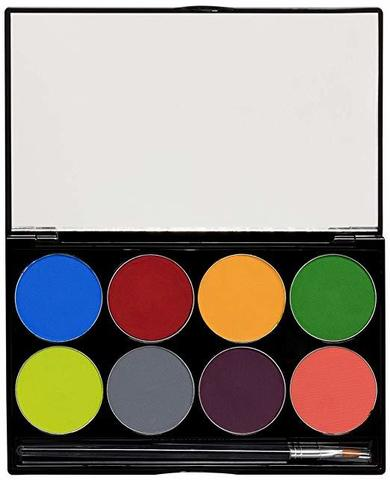 MEHRON Палитра аквагрима Makeup Paradise AQ Face & Body Paint 8 Color Palette - Tropical, 8 цветов по 7 г