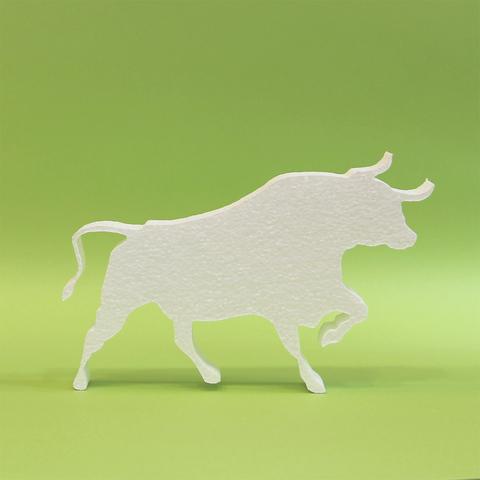 Символ года бык из пенопласта