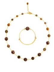 Браслет и ожерелье из муранского стекла черные