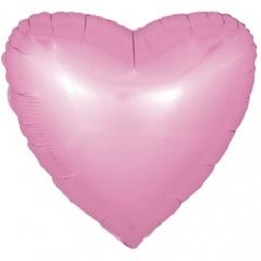 F 18''/46 см Сердце, Розовый, Сатин, 1 шт.