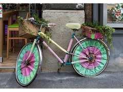 Цветной велосипед -раскраски по номерам