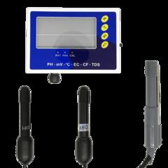 Монитор качества воды PHT-028: pH метр, кондуктометр, солемер, ОВП метр, термометр