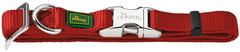Ошейник для собак Hunter ALU-Strong M (40-55 см) нейлон с металлической застежкой бордовый
