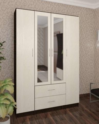 Шкаф Фиеста 4-х дверный венге