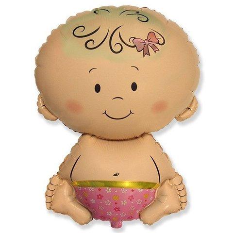 Фигурный шарик из фольги Карапуз-Девочка
