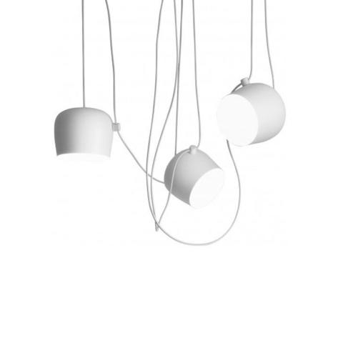 Подвесной светильник копия AIM by Flos (3 плафона, белый)