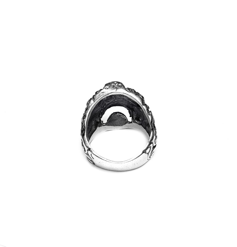 Shiva's Mask Ring, Sterling Silver