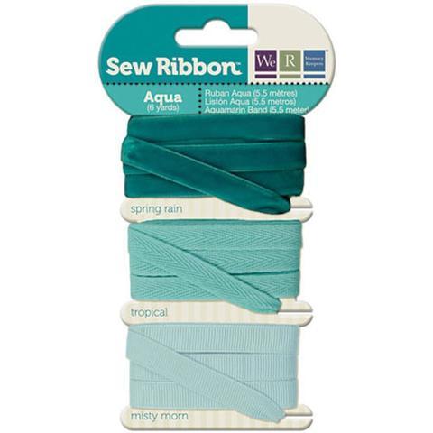 Набор лент. We R Memory Keepers Sew Ribbon - 5,5м- Aqua