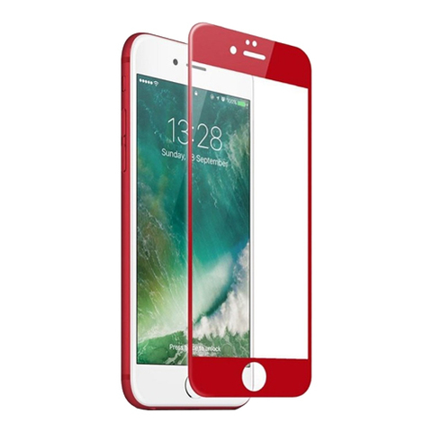 Защитное 3D-стекло Premium Glass для iPhone 7/8 Plus Red - Красное