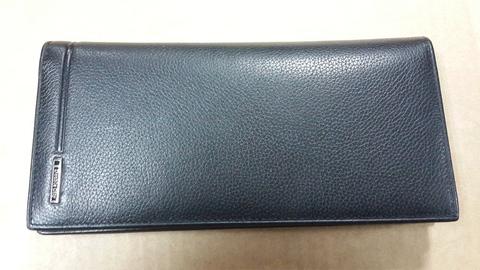 Мужское вертикальное чёрное портмоне купюрник из натуральной кожи яка Dublecity M100-DC24-19A в подарочной коробке