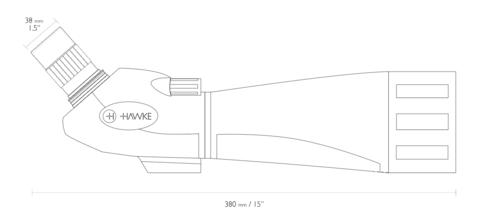 Зрительная труба Hawke Vantage 24-72x70 Spotting Scope
