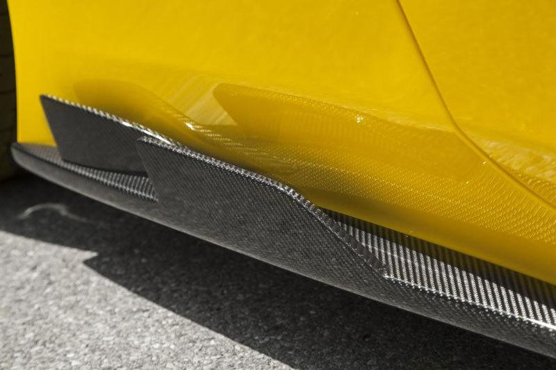 Карбоновые пороги боковые с двойными рассекателями для Ferrari 458 Speciale