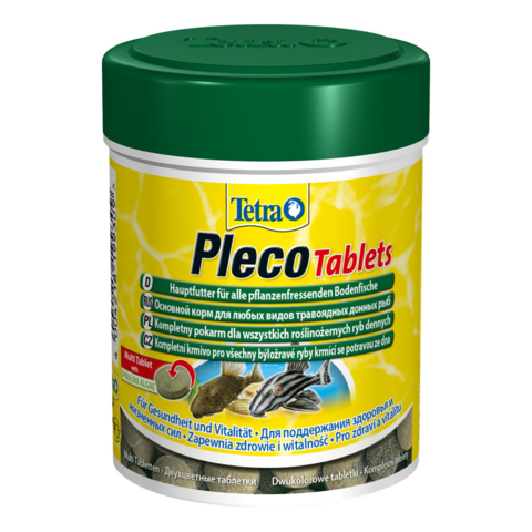 Tetra Pleco Tablets корм со спирулиной для сомов и донных рыб 120таб