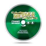 Алмазный диск MESSER-DIY диаметр 180 мм со сплошной режущей кромкой для резки гранита и мрамора
