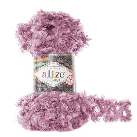 Купить Пряжа Alize Puffy Fur Цвет 6103 Сиреневый | Интернет-магазин пряжи «Пряха»