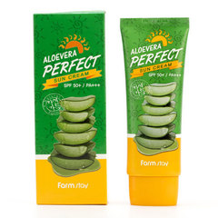 FarmStay Aloe Vera Perfect Sun Cream SPF 50+/PA+++ - Крем для лица и тела солнцезащитный