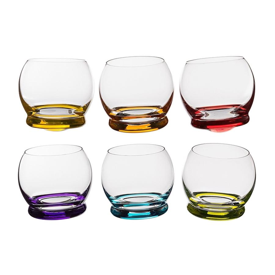 цена на Набор цветных стаканов Crystalex Bohemia Crazy, 390 мл, 6 шт