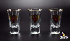 Подарочный набор из 3 стопок для водки «Герб», 60 мл, фото 2