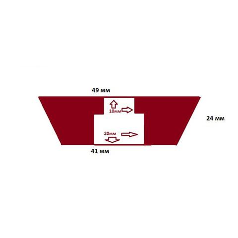 Пробка силиконовая №9 49х41/24 с каналом