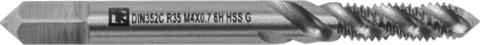 Метчик машинно-ручной T-DRIVE со спиральной канавкой для глухих отверстий с направляющей в наборе М10х1.5, HSS-G