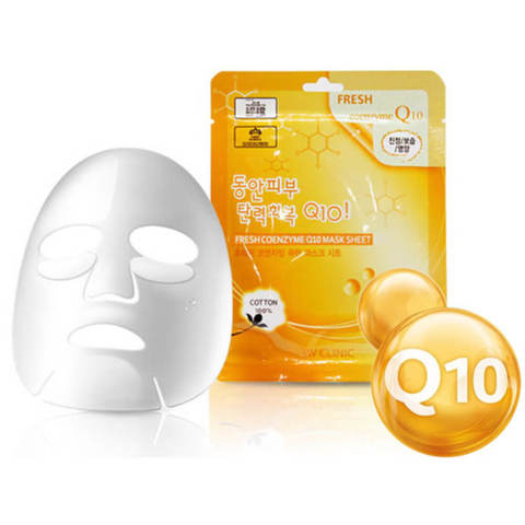Тканевая маска для лица с коэнзим 3W CLINIC Fresh Coenzyme Q 10 Mask Sheet