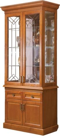 Шкаф с витриной 2 дв. Олимпия