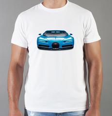 Футболка с принтом Bugatti (Бугатти) белая 004