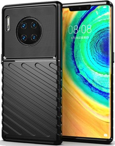 Чехол Huawei Mate 30 Pro (Mate 30 RS) цвет Black (черный), серия Onyx, Caseport