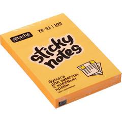 Стикеры Attache Selection 76x51 мм неоновые оранжевые (1 блок, 100 листов)