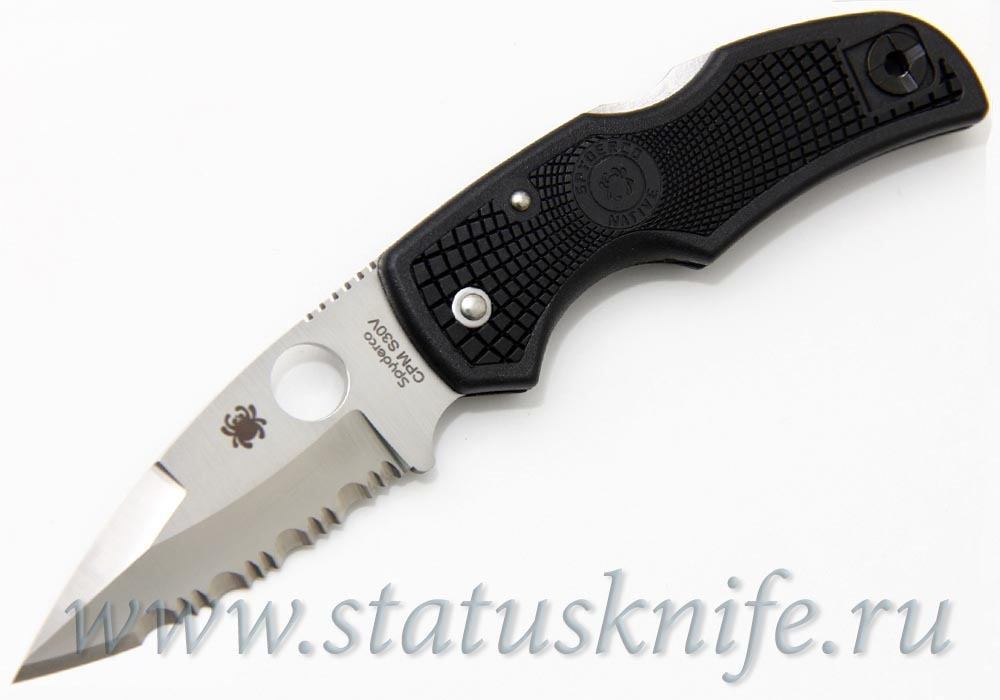 Нож Spyderco Native C41PSBK серрейтор