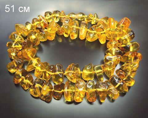 бусы из прозрачного янтаря 50 см