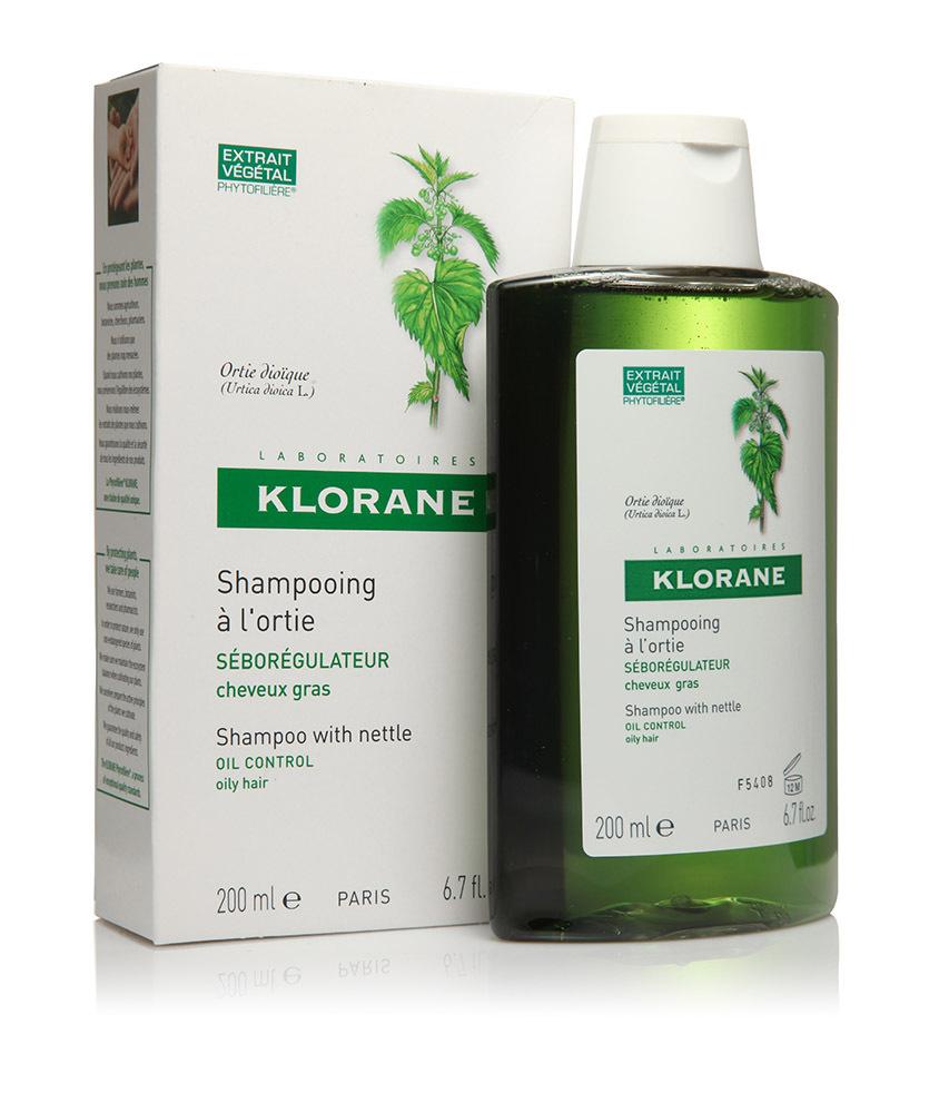 Klorane шампунь с экстрактом крапивы себорегулирующий 400 мл.