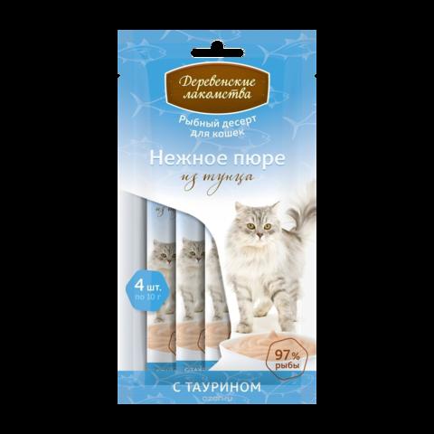Деревенские лакомства Лакомство для кошек Нежное пюре из тунца