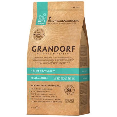 Grandorf Dog Probiotic All Breed сухой корм с пробиотиками для собак всех пород (4 мяса с рисом) 3кг