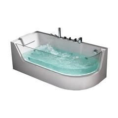 Акриловая ванна Frank F105 R 170х80 с гидромассажем угловая