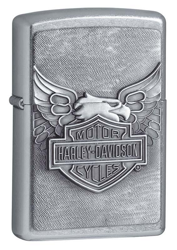 Зажигалка ZIPPO Classic Street Chrome™ с логотипом Harley-Davidson® ZP-20230