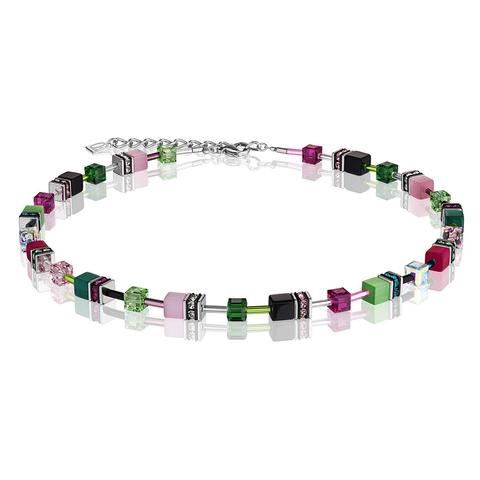 Колье Coeur de Lion 2838/10-0504 цвет зелёный, розовый, чёрный