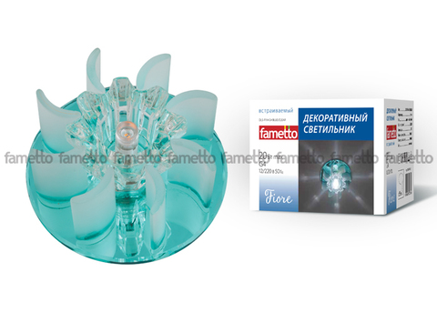 DLS-F114 G4 BLUE/CLEAR Светильник декоративный встраиваемый ТМ