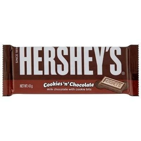 Hershey's Cookies and Chocolate Молочный шоколад с печеньем 43 гр