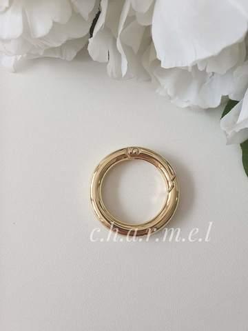 Карабин-кольцо золото, d 30 мм, 6 мм