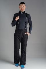 Премиальные теплые зимние брюки Nordski Mount Black мужские с высокой спинкой