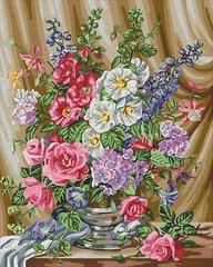 Розы в цвету-раскраски  по номерам
