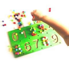 Пособие для дошкольников Тактильные Цифры Сенсорика